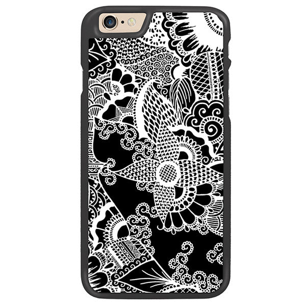 Black Floral Designer Hard Back Case by Simran - Zing Cases
