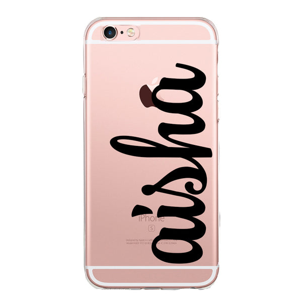 Personalised Name Clear Jelly Gel Case