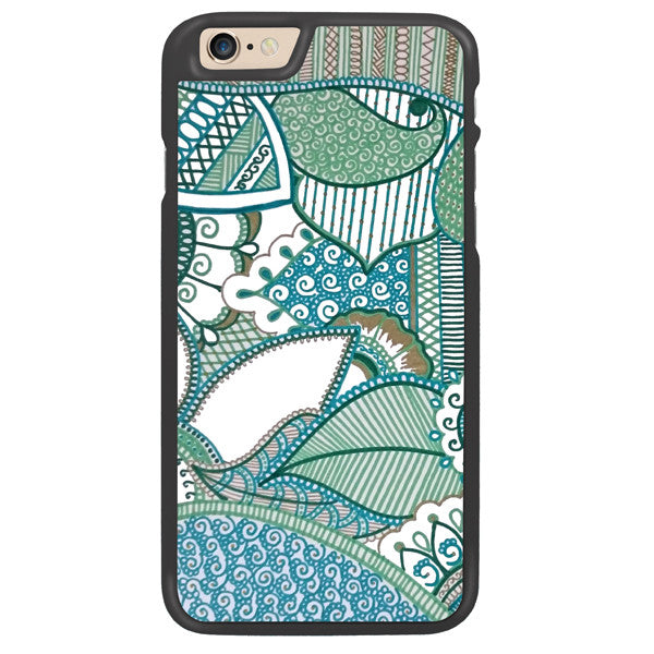 Tropical Green Designer Hard Back Case by Simran - Zing Cases