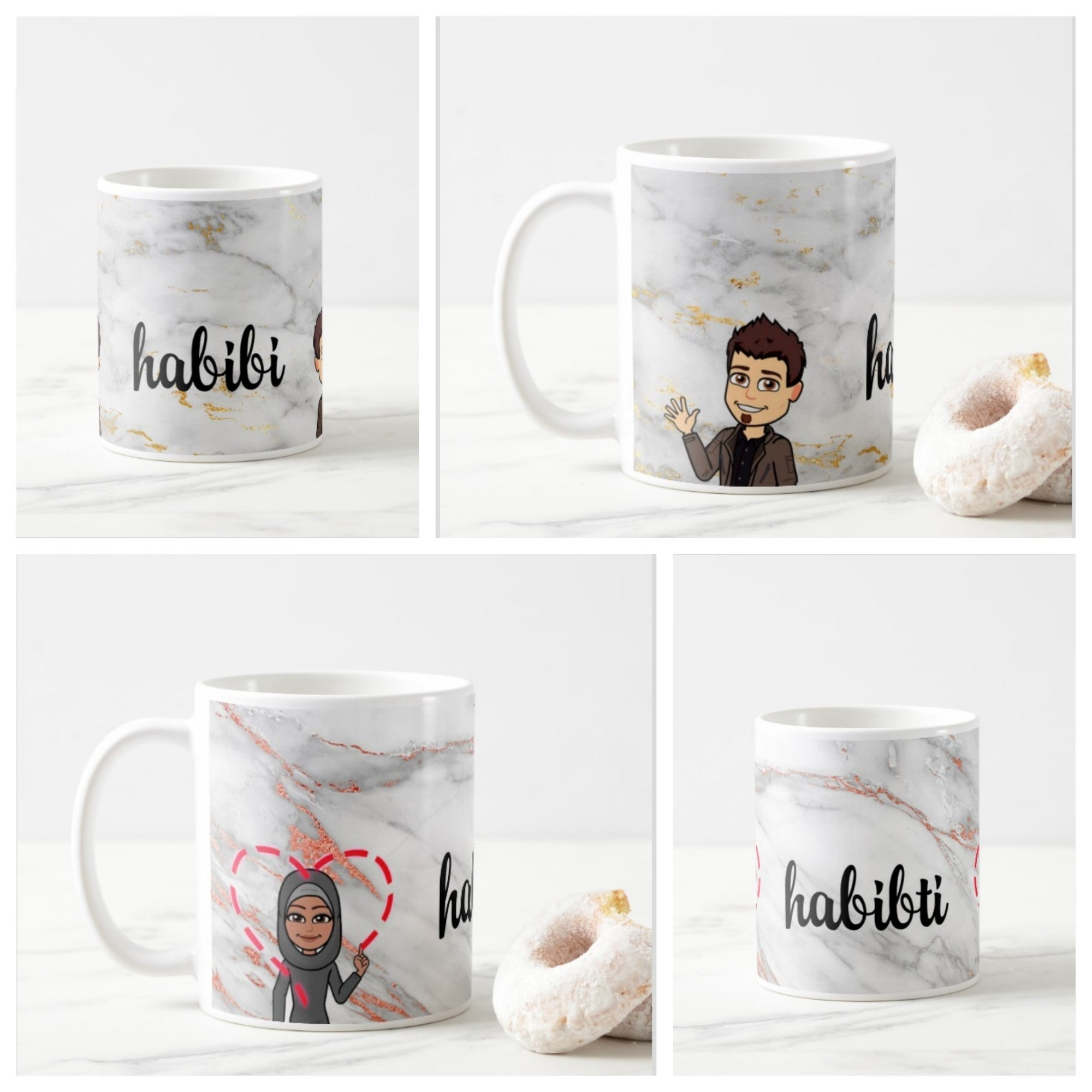 Pack of 2 Bitmoji Habibi and Habibti Mugs