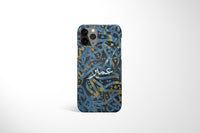 Arabic Calligraphy by Zaman with Personalised Name Phone Case - Blue