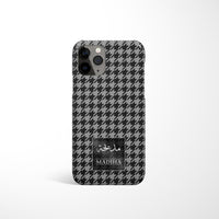 Houndstooth Print with Personalised Arabic Name Phone Case