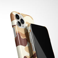 Camouflage Case with Personalised Arabic Name Phone Case - Desert