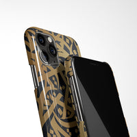 Arabic Calligraphy by Zaman with Personalised Name Phone Case - Black and Gold