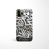 Marble Arabic Calligraphy by Asad with Personalised Name Phone Case