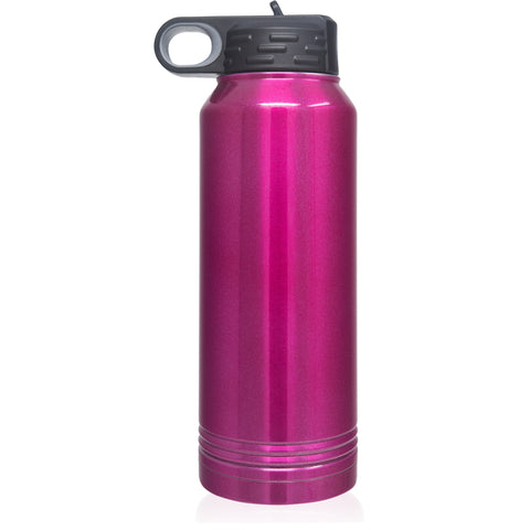 32oz Water Bottle | Racing Raspberry