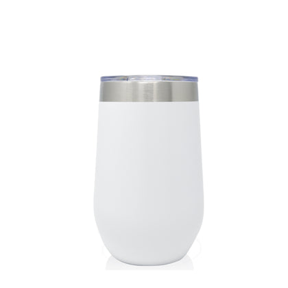16oz Wine Tumbler | White