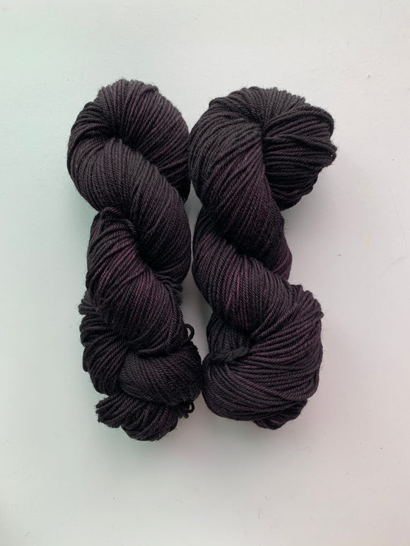 Blackest of Plums - Worsted Squish