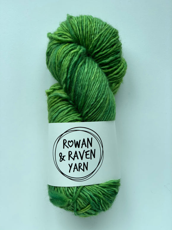 Lime Green Party - Squish Singles - Worsted