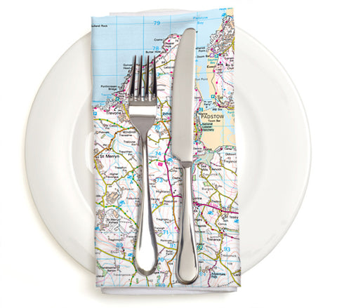 Custom Map Napkins