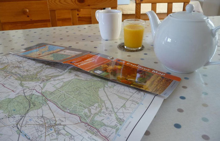 Ordnance Survey Exploer Map Trip Planning