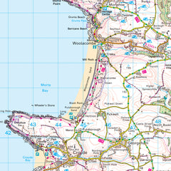 Landranger Map of Woolacombe