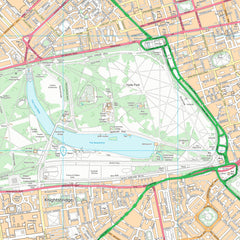 Street Map of Hyde Park London