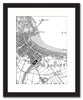 Framed Map - Custom Vintage Ordnance Survey Map - Victorian Street Map