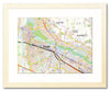 Framed Map - Germany 1:25,000 - postcode centred