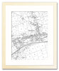 Framed Map - Custom Vintage Ordnance Survey Map - Victorian Street Map - High Detail
