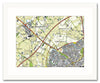 Framed Map - Netherlands 1:25,000 - postcode centred