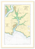 Nautical Chart 28 Salcombe Harbour natural frame print