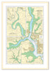 Framed Nautical Chart - Admiralty Chart 871 - Rivers Tamar Lynher and Tavy