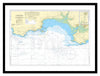 Framed Nautical Chart - Admiralty Chart 1076 - Linney Head to Oxwich Point