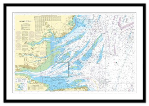 Framed Nautical Chart - Admiralty Chart 1183 - Thames Estuary