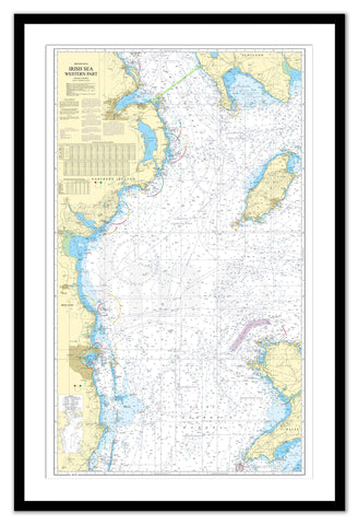 Framed Nautical Chart - Admiralty Chart 1411 - Irish Sea Western Part