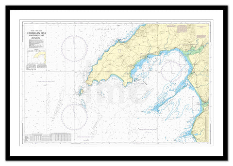 Framed Nautical Chart - Admiralty Chart 1971 - Cardigan Bay Northern Part