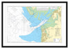 Framed Nautical Chart - Admiralty Chart 2010 - Morecambe Bay and Approaches