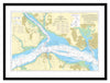 Framed Nautical Chart - Admiralty Chart 2036 - The Solent and Southampton Water