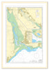 Framed Nautical Chart - Admiralty Chart 2290 - River Exe and Approaches including Exeter Canal