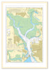 Framed Nautical Chart - Admiralty Chart 2631 - Portsmouth Harbour