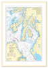 Framed Nautical Chart - Admiralty Chart 2724 - North Channel to the Firth of Lorn