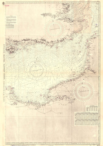 Vintage Nautical Chart - Admiralty Chart 2675c - English Channel, Eastern Sheet