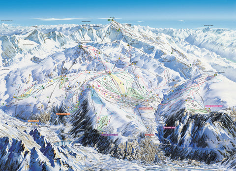 Alpe d'huez - Piste Map Canvas Print