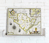 Map Canvas - Vintage County Map - Angelsey - Love Maps On... - 1