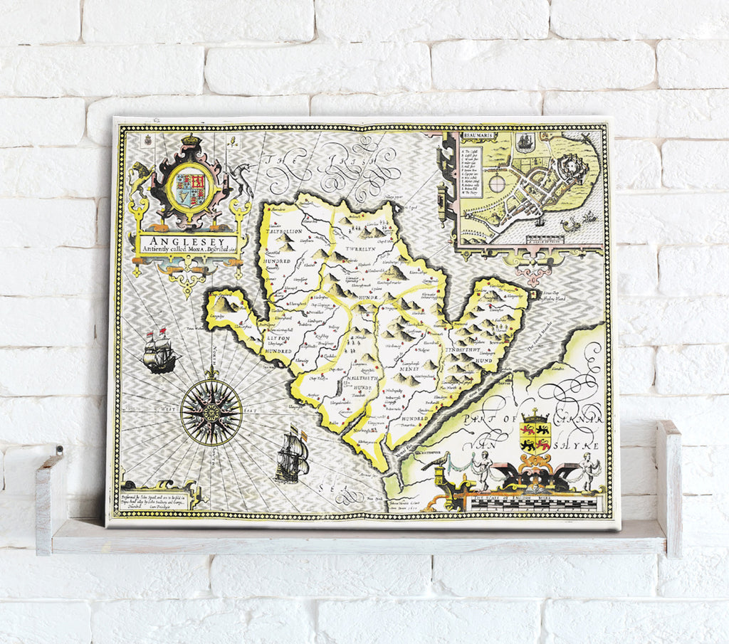 Map Canvas - Vintage County Map - Durham - Love Maps On...