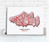 Football Stadium Map - Canvas Print - Love Maps On... - 2