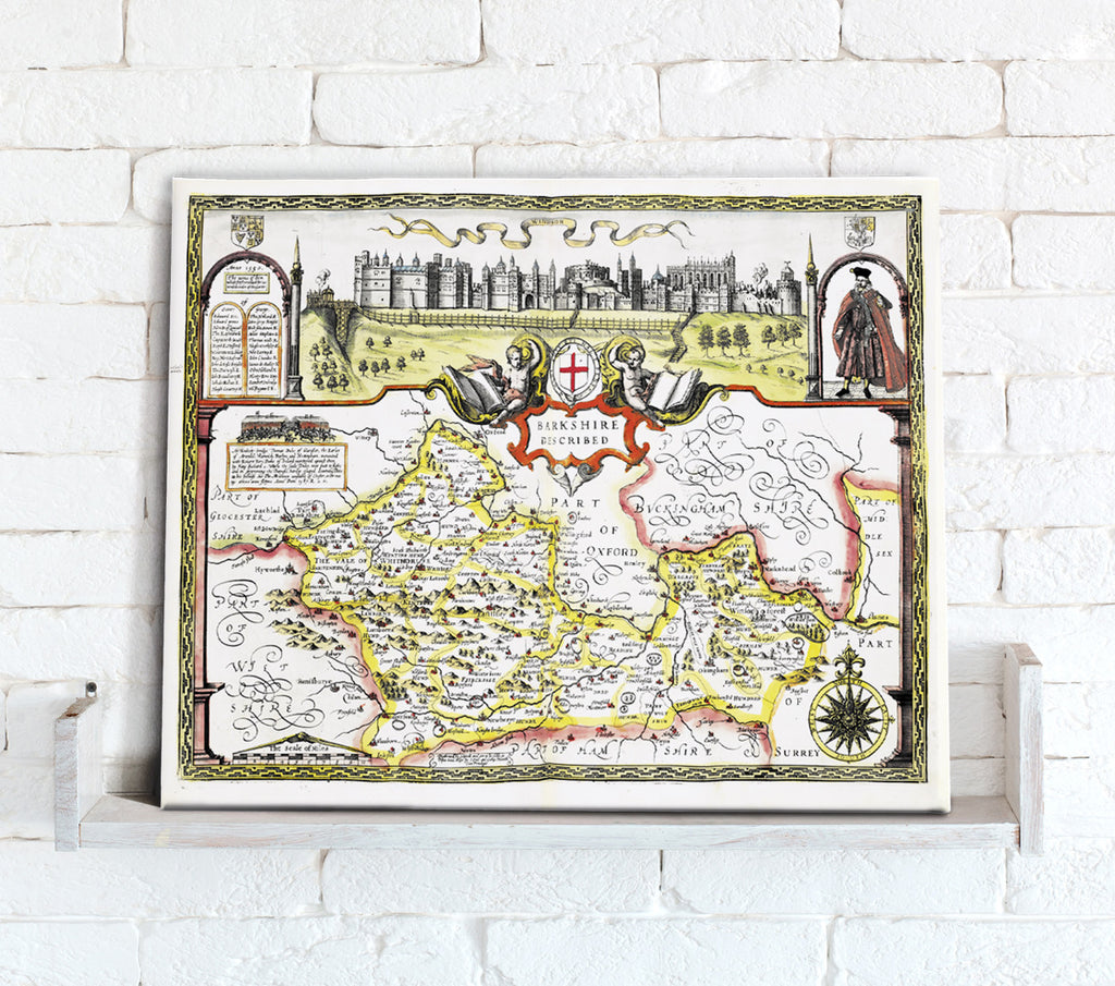 Map Canvas - Vintage County Map - Berkshire - Love Maps On...