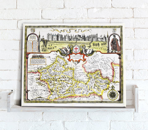 Map Canvas - Vintage County Map - Berkshire