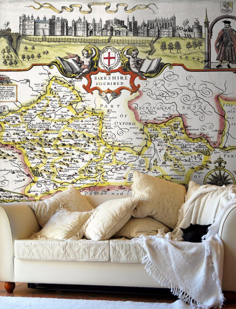 Map Wallpaper - Vintage County Map - Berkshire - Love Maps On... - 1
