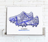 Football Stadium Map - Canvas Print - Love Maps On... - 4