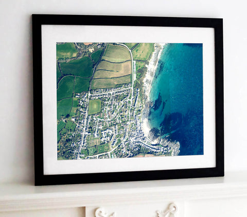 Framed Print - Custom Ordnance Survey Aerial Imagery