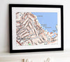 Framed Map - Custom Ordnance Survey Street Map - Classic Framed Print- Love Maps On...