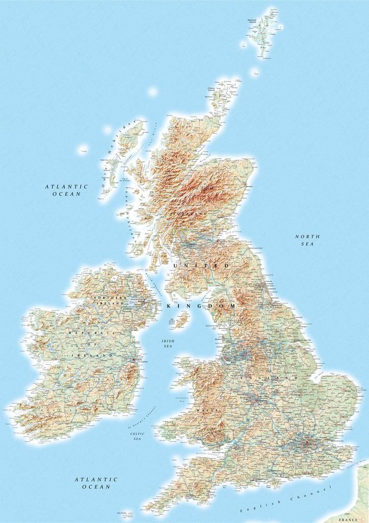 Map Poster - British Isles Map Poster Print- Love Maps On...