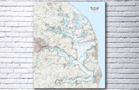 The Broads National Park - Map Poster