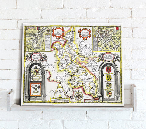 Map Canvas - Vintage County Map - Buckinghamshire