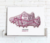 Football Stadium Map - Canvas Print - Love Maps On... - 7