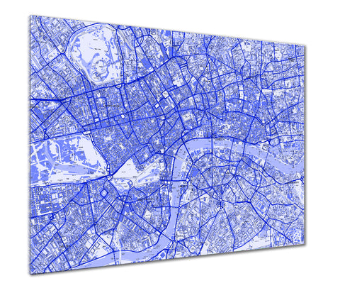Map Poster - London Streetmap - Blue