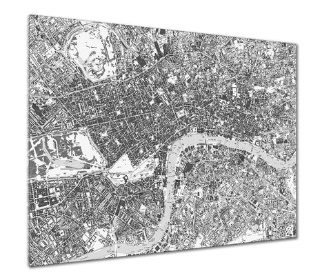 Map Poster - London Streetmap - Grey and White
