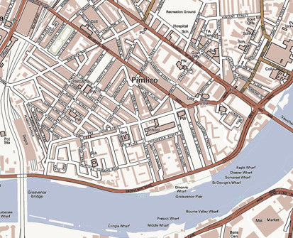 Pimlico London Map.Map Poster London Streetmap Classic From Love Maps On